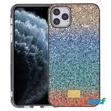 Custodia Ibrida Rainbow Series per iPhone 11 Pro Max - Blu /