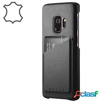 Custodia in Pelle per Samsung Galaxy S9 Mujjo Wallet - Nera