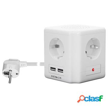 Goobay Cube Extension Cable with USB - EU Plug - 1.5m