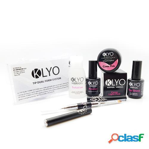 Kit AcriGel HibriGel KLYO con Dual Form e Cover Pink