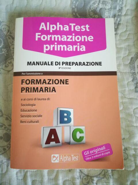 Kit completo AlphaTest Formazione Primaria