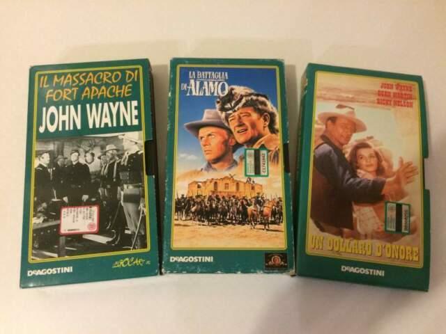 "Lotto 3 Vhs Film Western Collana ""John Wayne L'Eroe"