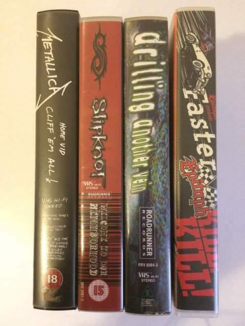 Lotto 4 Vhs Musica: Metallica, Slipknot, Epitaph, Roadrunner