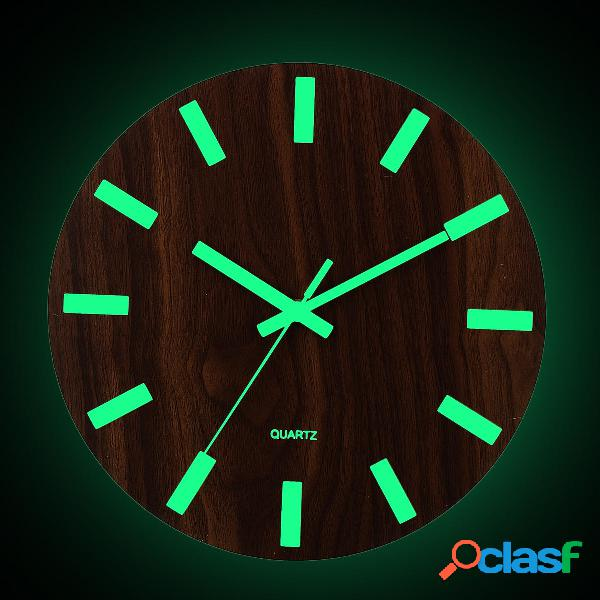Orologio da parete in legno Glow In The Dark Silent Al