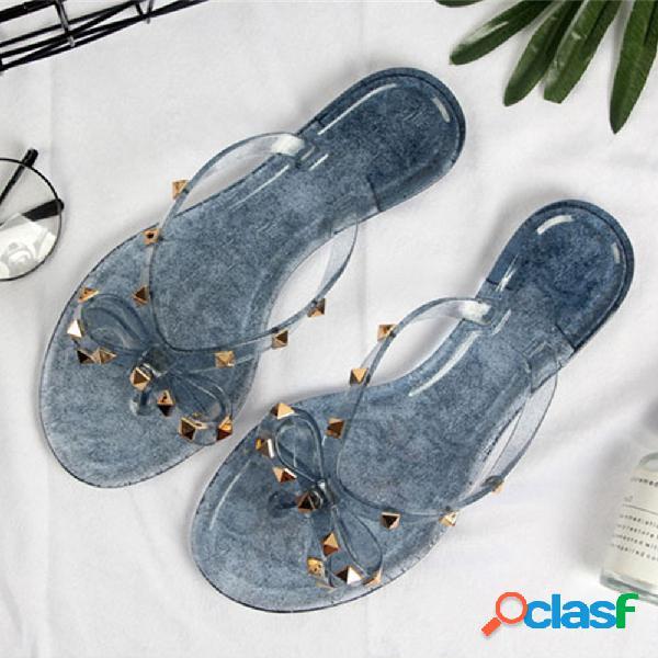 Pantofole da spiaggia casual impermeabili con punta a clip e