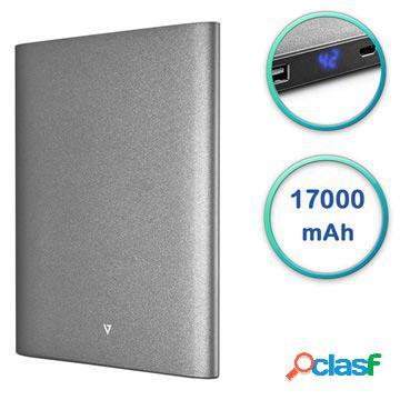 Power Bank con Doppia Porta USB V7 Ultra Slim - 17000mAh -