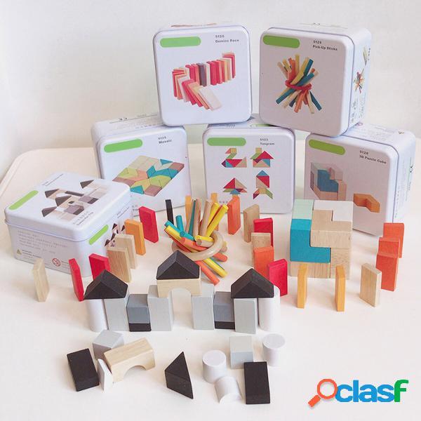 Puzzle 3D Blocchi di legno Giocattoli Sviluppo di