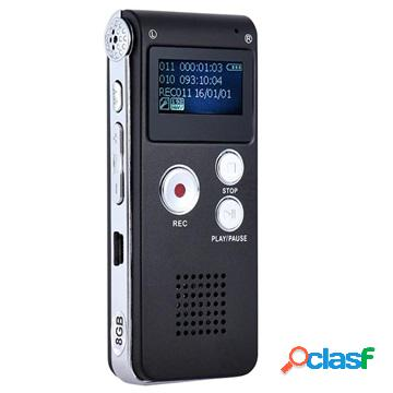 Registratore Vocale Digitale Portatile SK-012 - Nero