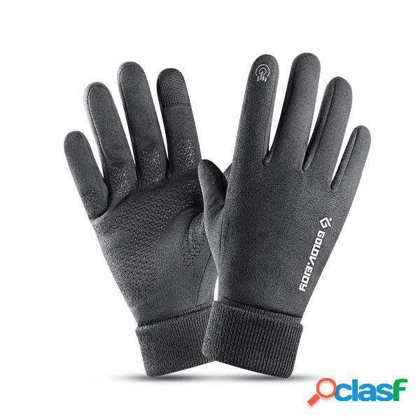 Sci invernale uomo Guanti Touchscreen impermeabile Sport