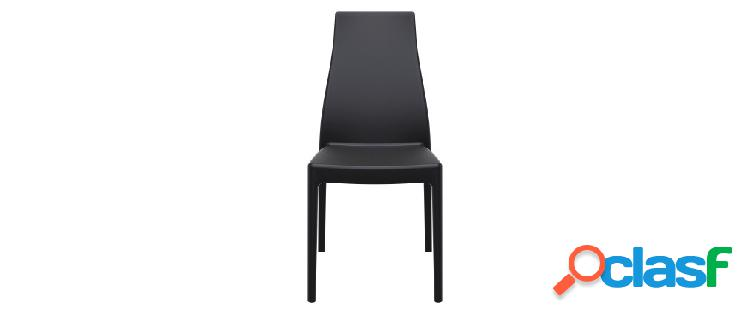 Sedie di design impilabili da interno/esterno (set di 4)