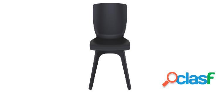 Sedie di design nere da interno/esterno (set di 4) SWAN