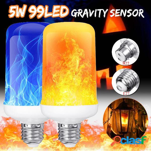 Sensore di gravità a 4 modalità B22 E27 Lampadina a fuoco