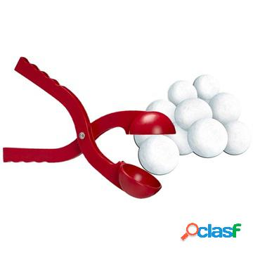 Snowball Maker Toy for Kids - Plastic - Red