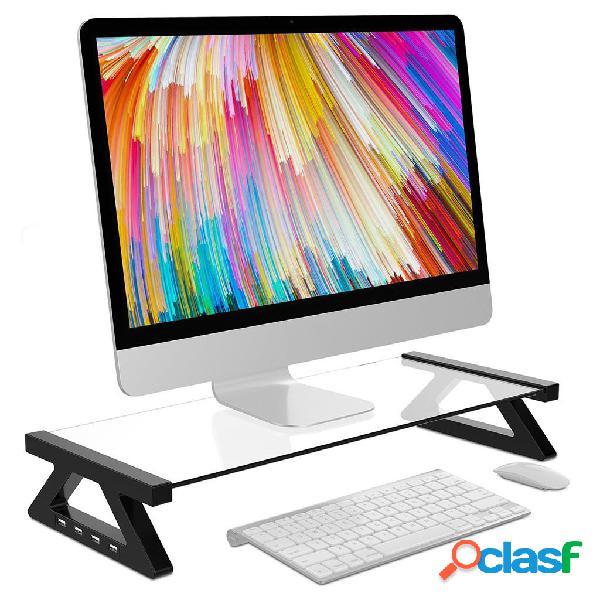 Supporto per scrivania con supporto per laptop con monitor