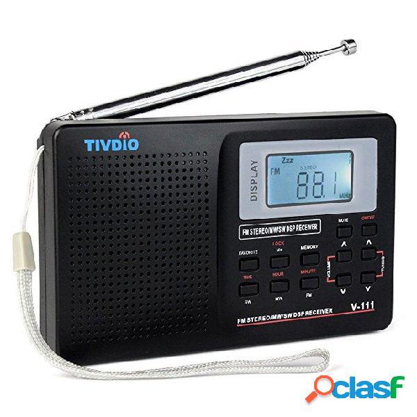 TIVDIOV-111MW/FM/ SW Stereo Radio 9KHz Mondo Banda