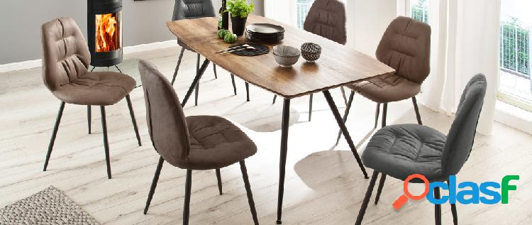 Tavolo da pranzo di design in rovere e metallo PRESTO