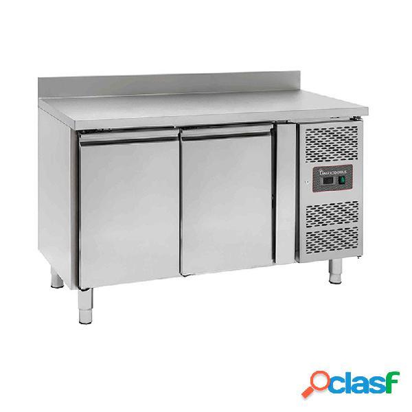 Tavolo refrigerato con 2 porte, alzatina, Prof. 600 e