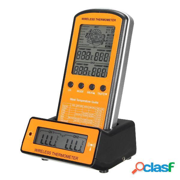 Wireless remoto Termometro con grill digitale a doppia sonda