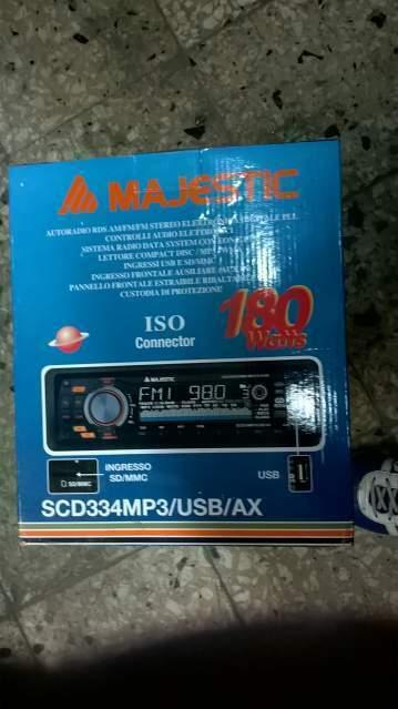 Autoradio majestic usb amplificatore pioneer.4 altoparlanti