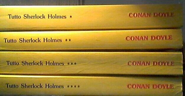 "Conan Doyle ""tutto Sherlock Holmes"" 4 libri"