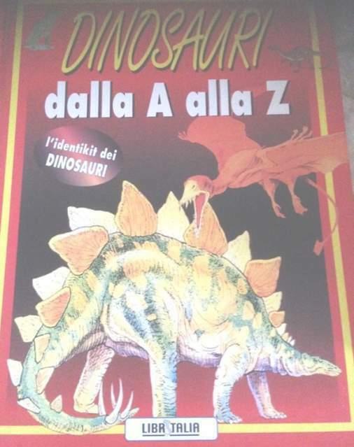 Dinosauri dalla a alla z identikit  illustrato a colori