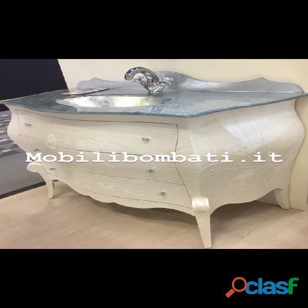 Mobile Bagno stile barocco bassorilievi