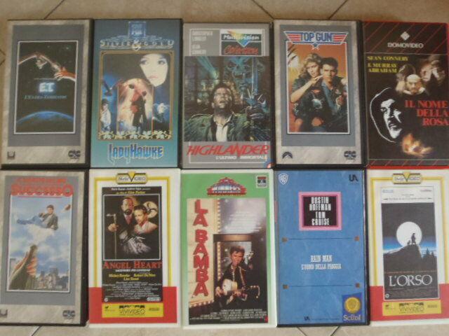 Videocassette vhs film vari anni '