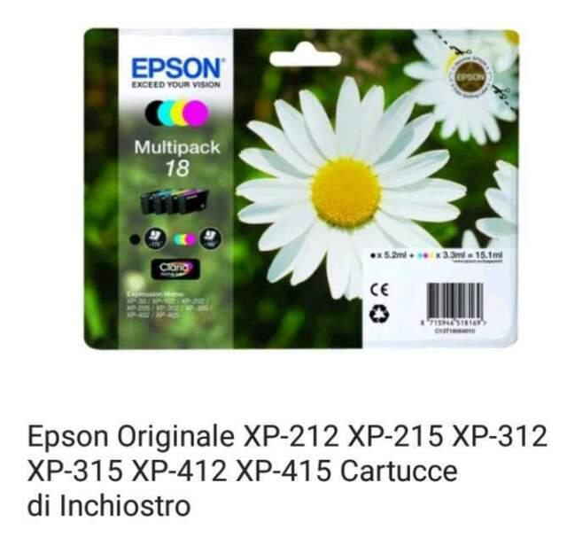 Epson xp cartucce originali e compatibili