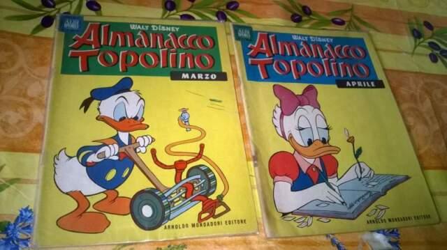 Almanacchi topolino da 6,00 a 0,50 centesimi
