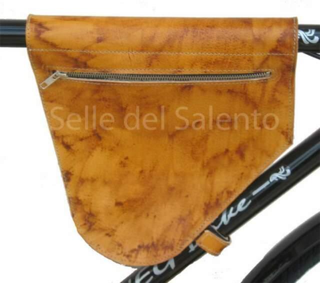 Borsa bicicletta retrò cuoio spazzolato per bici vintage