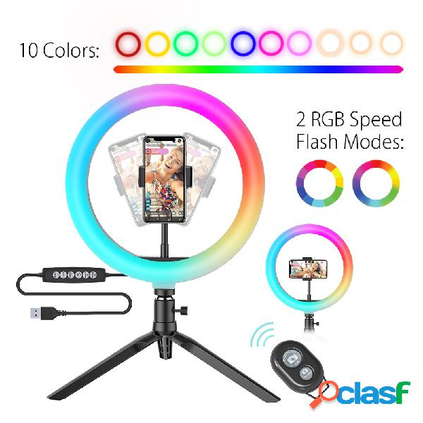 10 pollici RGB LED Anello luminoso dimmerabile Selfie Ring