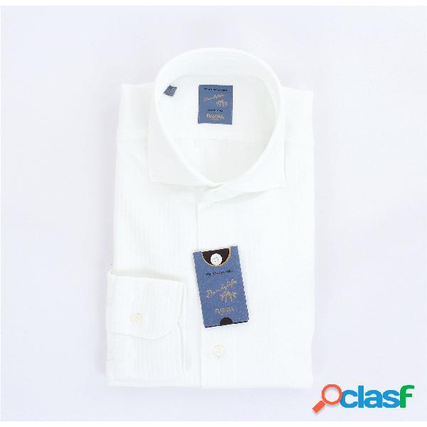 Barba Camicia Tinta Unita di colore bianco