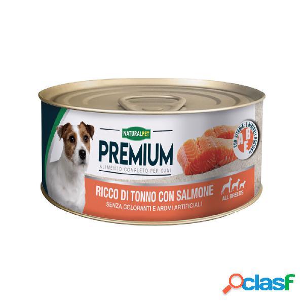 Naturalpet dog Premium Ricco di Tonno e Salmone170 gr