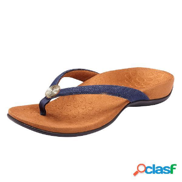 Pantofole da spiaggia casual da donna con zeppa infradito