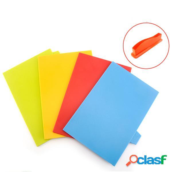 Set tagliere da cucina in plastica da 4 pezzi Colorful
