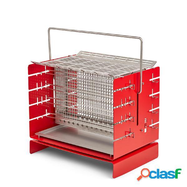 Silo Grill A3 Barbecue rosso, 41x30xh37 cm, in acciaio AISI