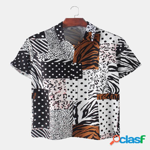 Stitching Light Holiday Holiday con stampa leopardo Camicia