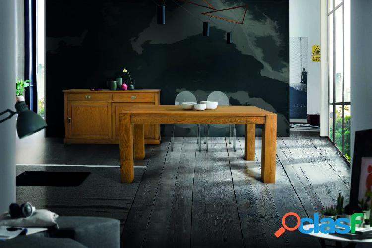 Tavolo in legno massello di abete spazzolato allungabile