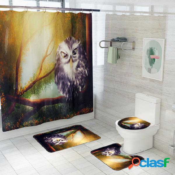 Tenda divisoria per set da bagno in quattro pezzi con