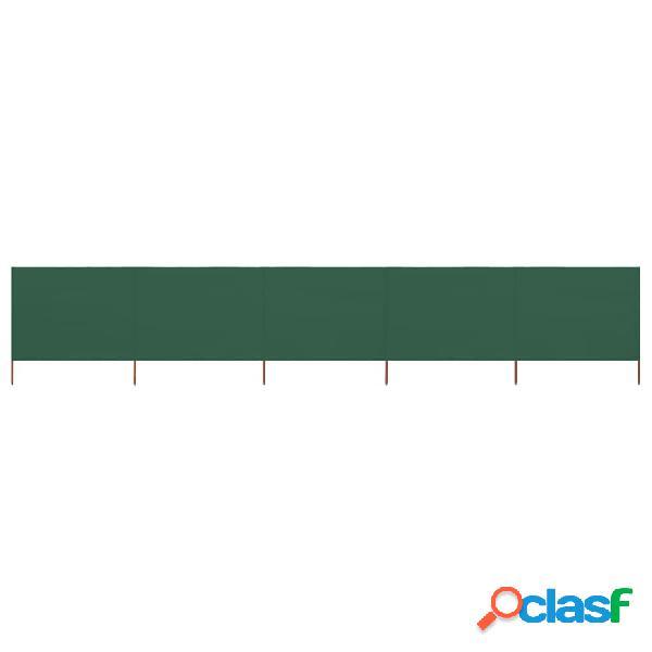 vidaXL Paravento a 5 Pannelli in Tessuto 600x120 cm Verde