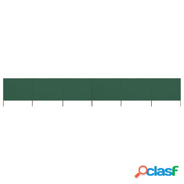 vidaXL Paravento a 6 Pannelli in Tessuto 800x160 cm Verde