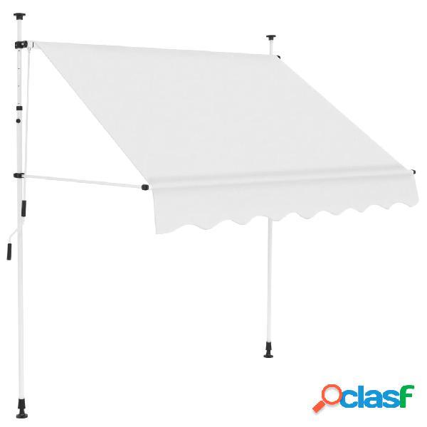 vidaXL Tenda da Sole Retrattile Manuale 150 cm Crema