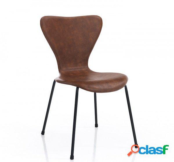4 Sedie di Design Marrone effetto Invecchiato