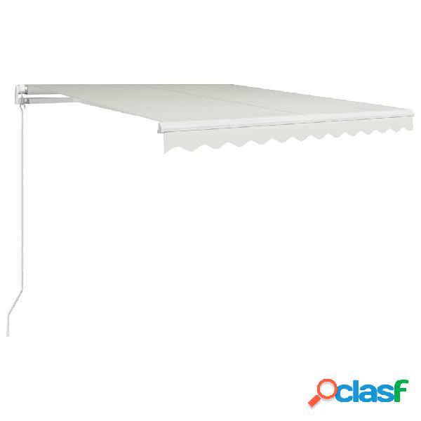vidaXL Tenda da Sole Retrattile Manuale 300x250 cm Crema