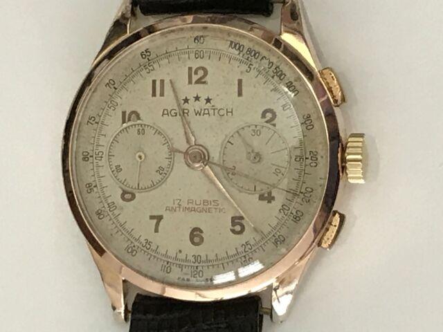 Cronografo in oro anni 40