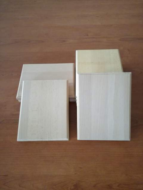 Rettangoli in legno massello naturale  x 14 neutri