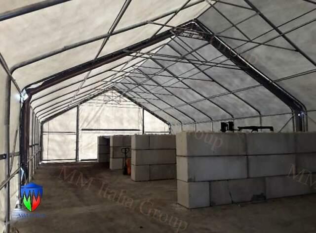 Tunnel zootecnici 28 x 8 x 5,12 per bestiame nelle marche