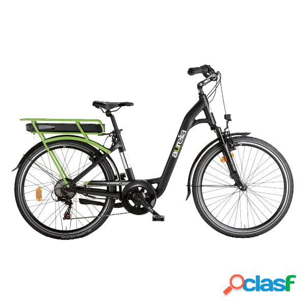 City bike elettrica Aurelia 28 (Colore: nero-verde, Taglia: