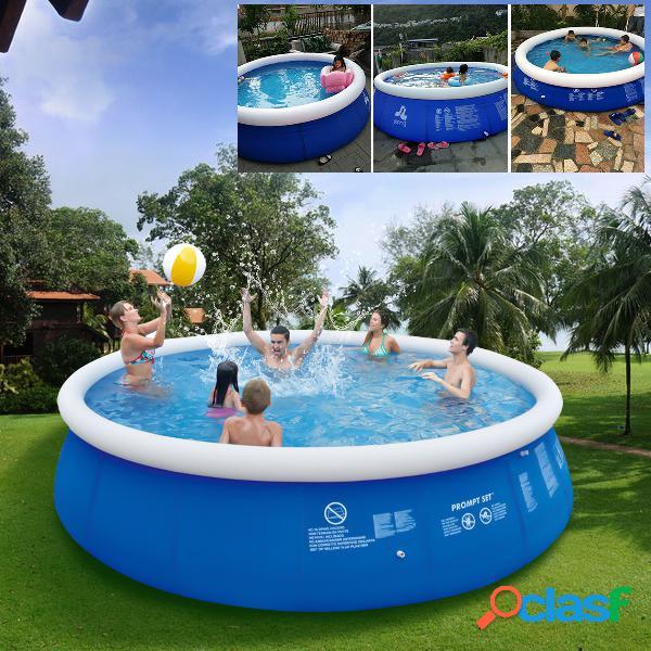 Piscina gonfiabile blu della piscina della famiglia della