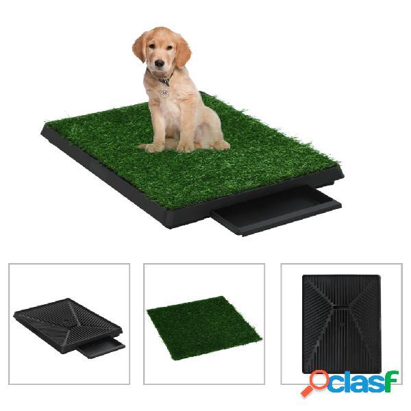 vidaXL Toilette per Animali 2 pz con Erba Sintetica Verde